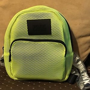 Victoria's Secret PINK Neon Green Fashion Backpack
